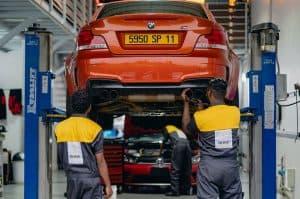 Carclub Engineers Working on BMW M Garage
