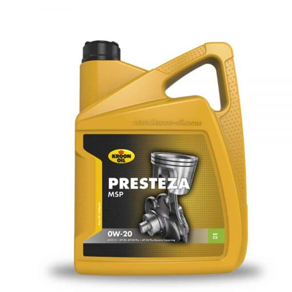 Engine Oil Mauritius - 4x5 L can Kroon-Oil Presteza MSP 0W-20